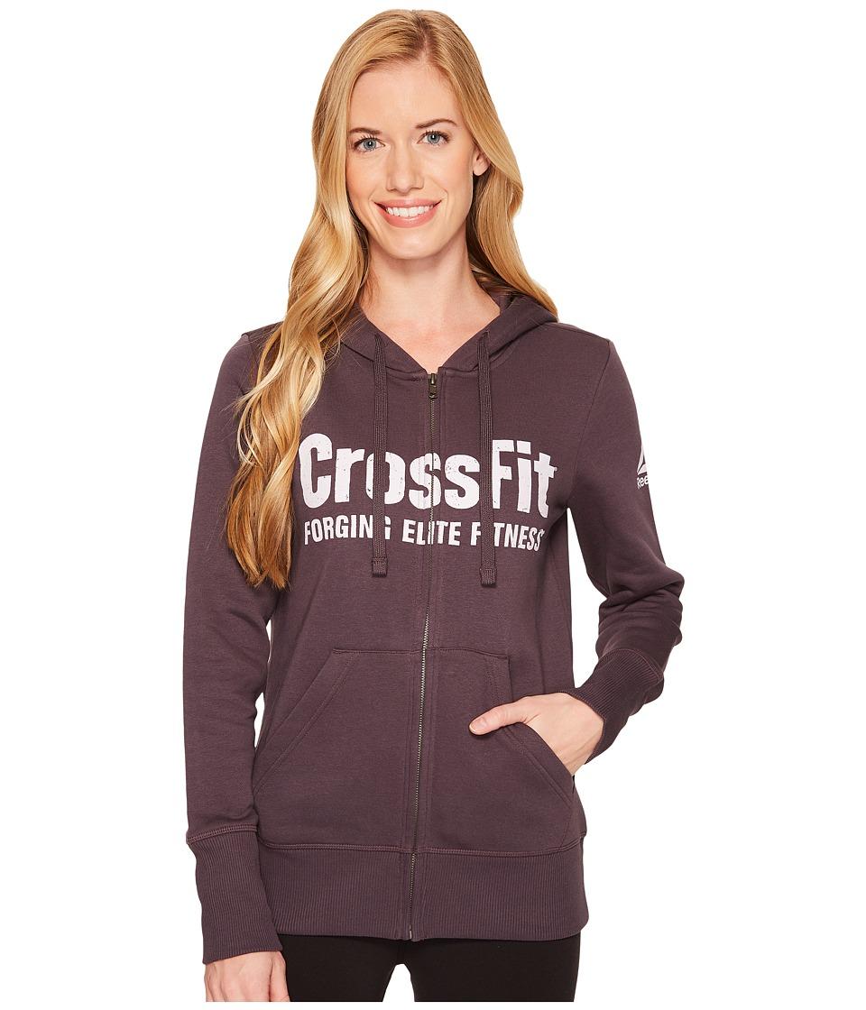 Reebok CrossFit Full Zip Hoodie (Smoky Volcano) Women