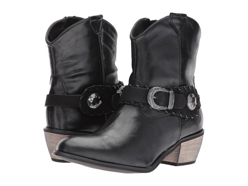 Roper Mae (Faux Black Leather Vamp) Cowboy Boots