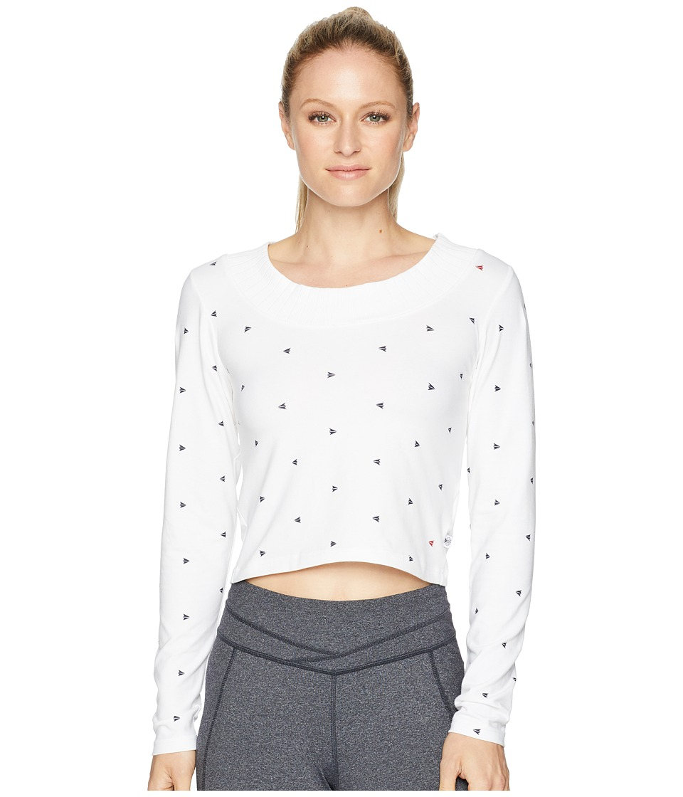 Reebok Graphic Pack Arrow Long Sleeve Tee (White) Women