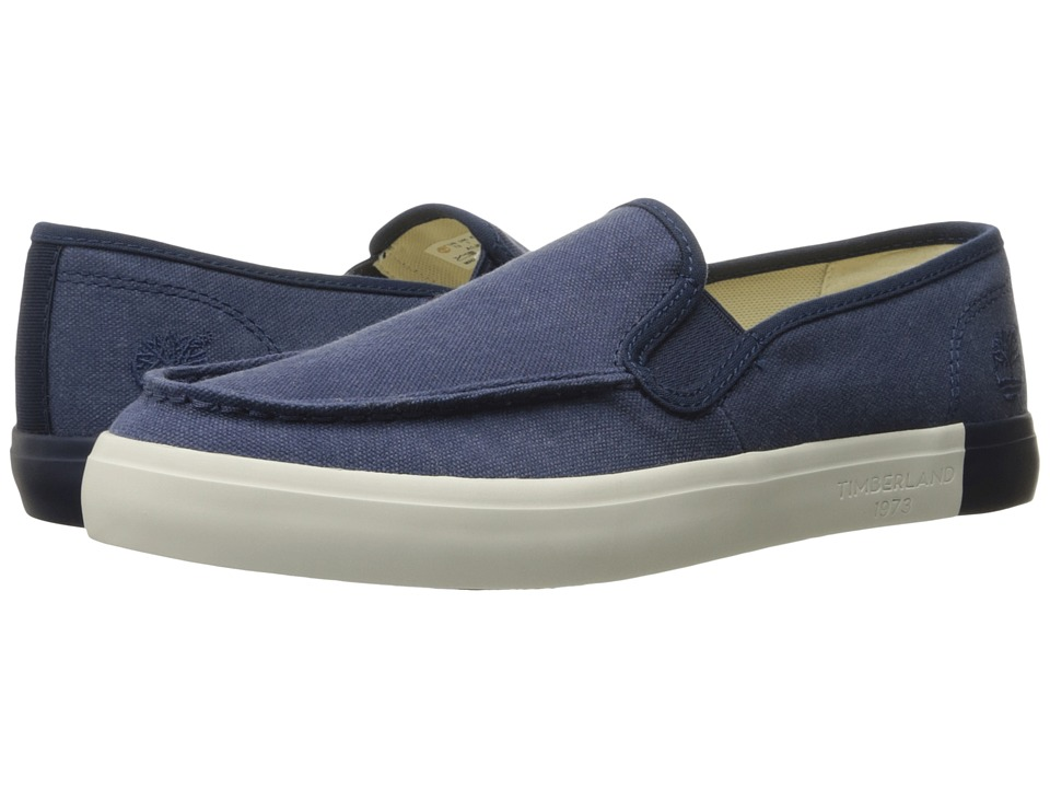 Timberland - Newport Bay Canvas Slip-On (Navy) Men's Slip on Shoes