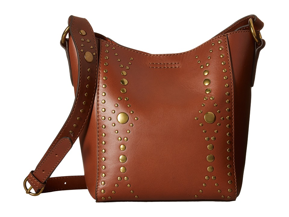 Frye - Harness Stud Crossbody Bucket (Rust) Cross Body Handbags