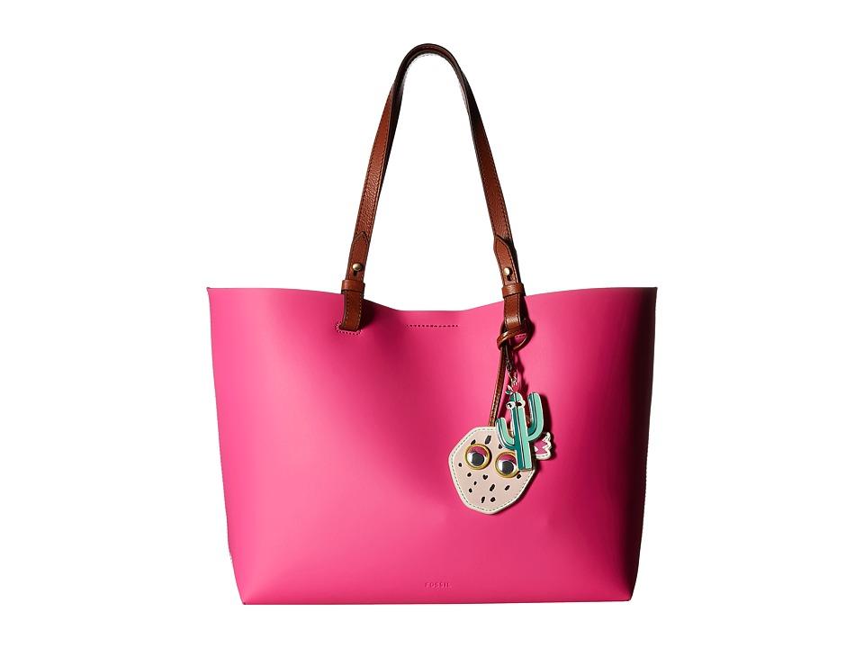 Fossil - Rachel Cactus Tote (Hot Pink) Tote Handbags