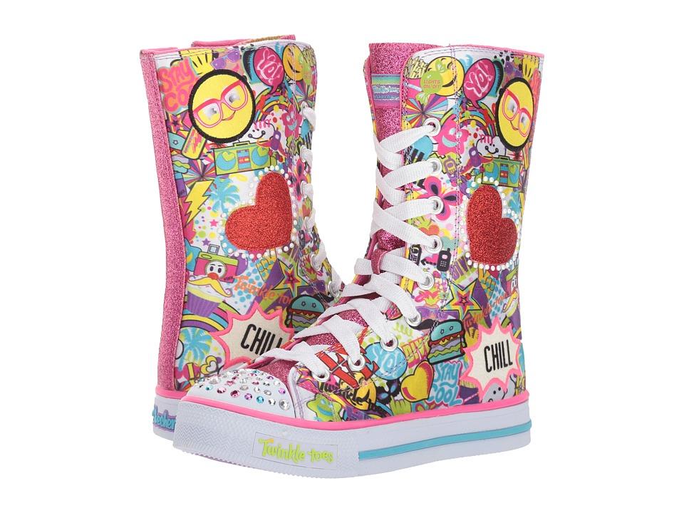 SKECHERS KIDS - Twinkle Toes - Shuffles - Chillin Dayz (Little Kid/Big Kid) (Multi) Girl's Shoes
