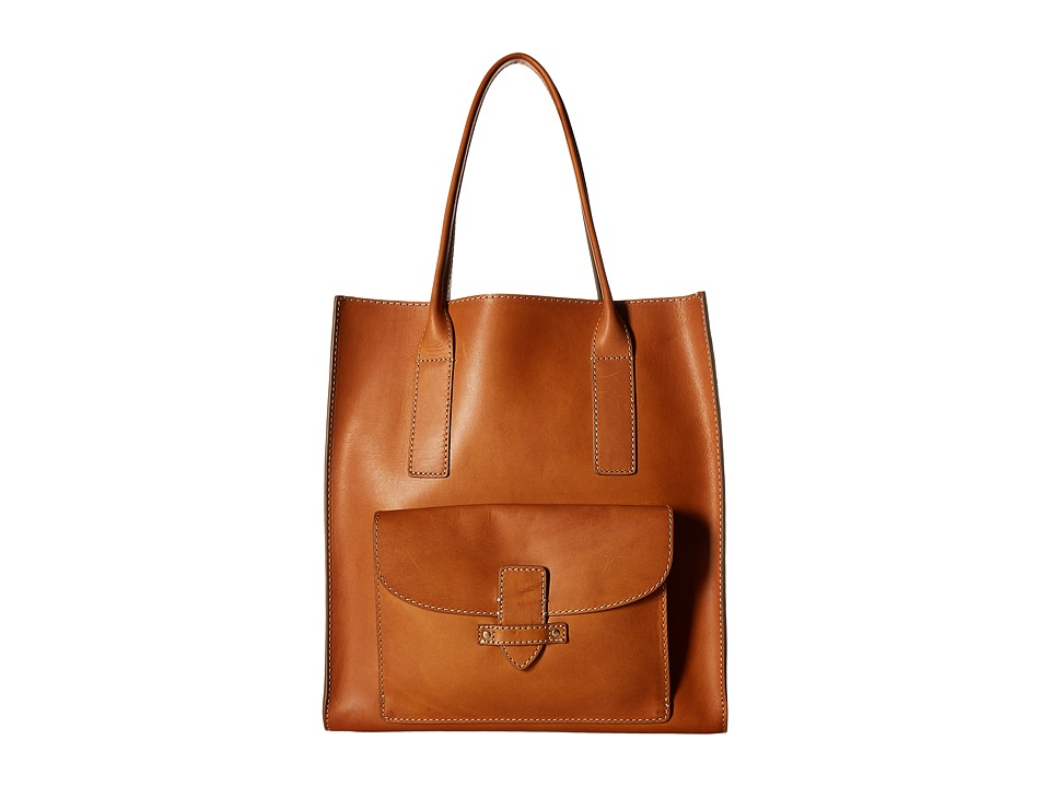 Frye - Casey North/South Tote (Tan) Tote Handbags
