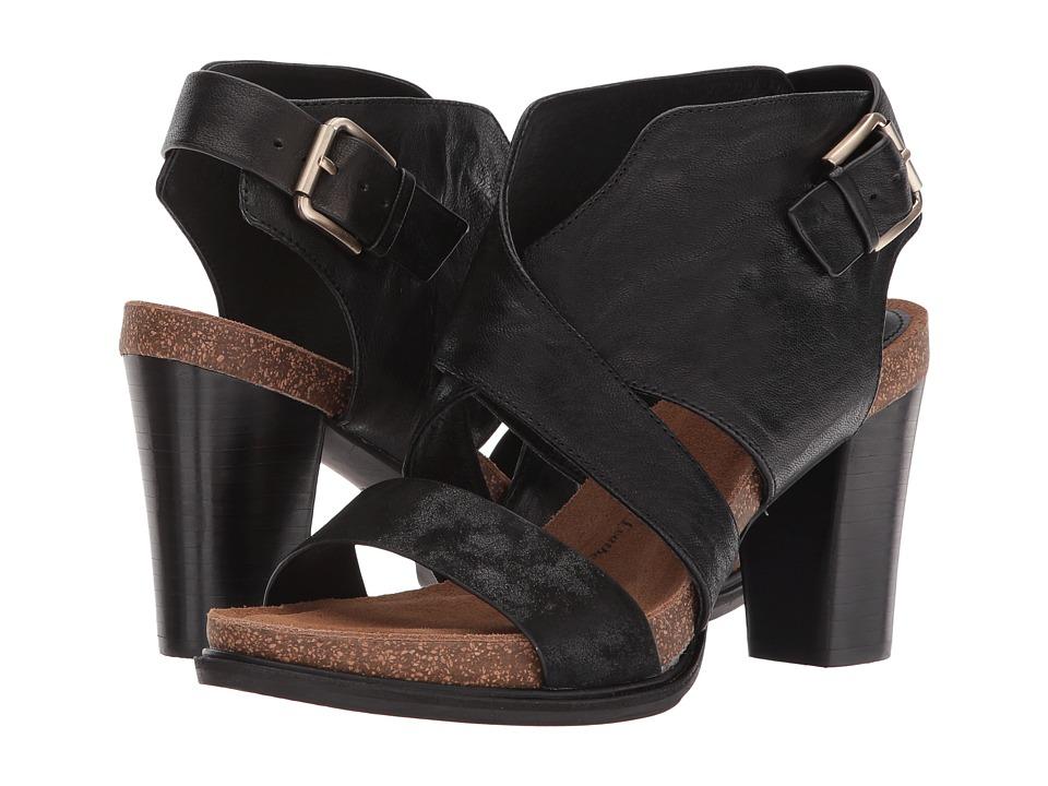 Sofft Christine (Black Oyster/Distressed Foil Suede) High Heels