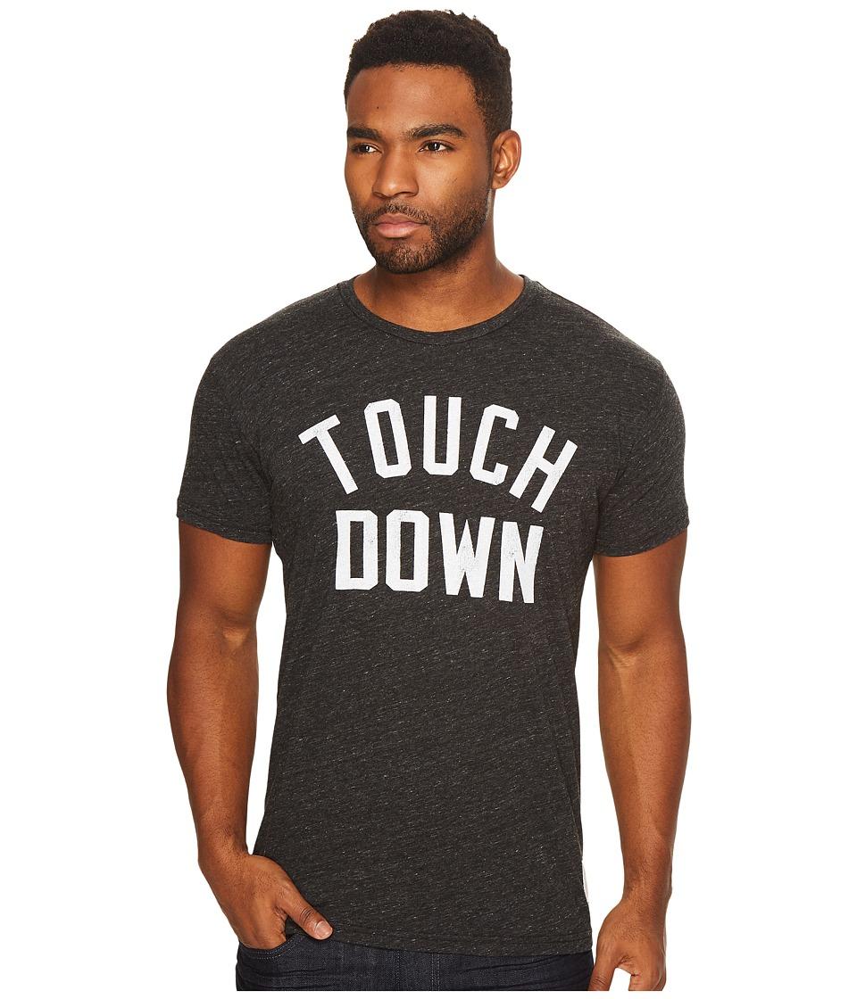 The Original Retro Brand - Touchdown Short Sleeve Tri-Blend Tee (Streaky Black) Men's T Shirt