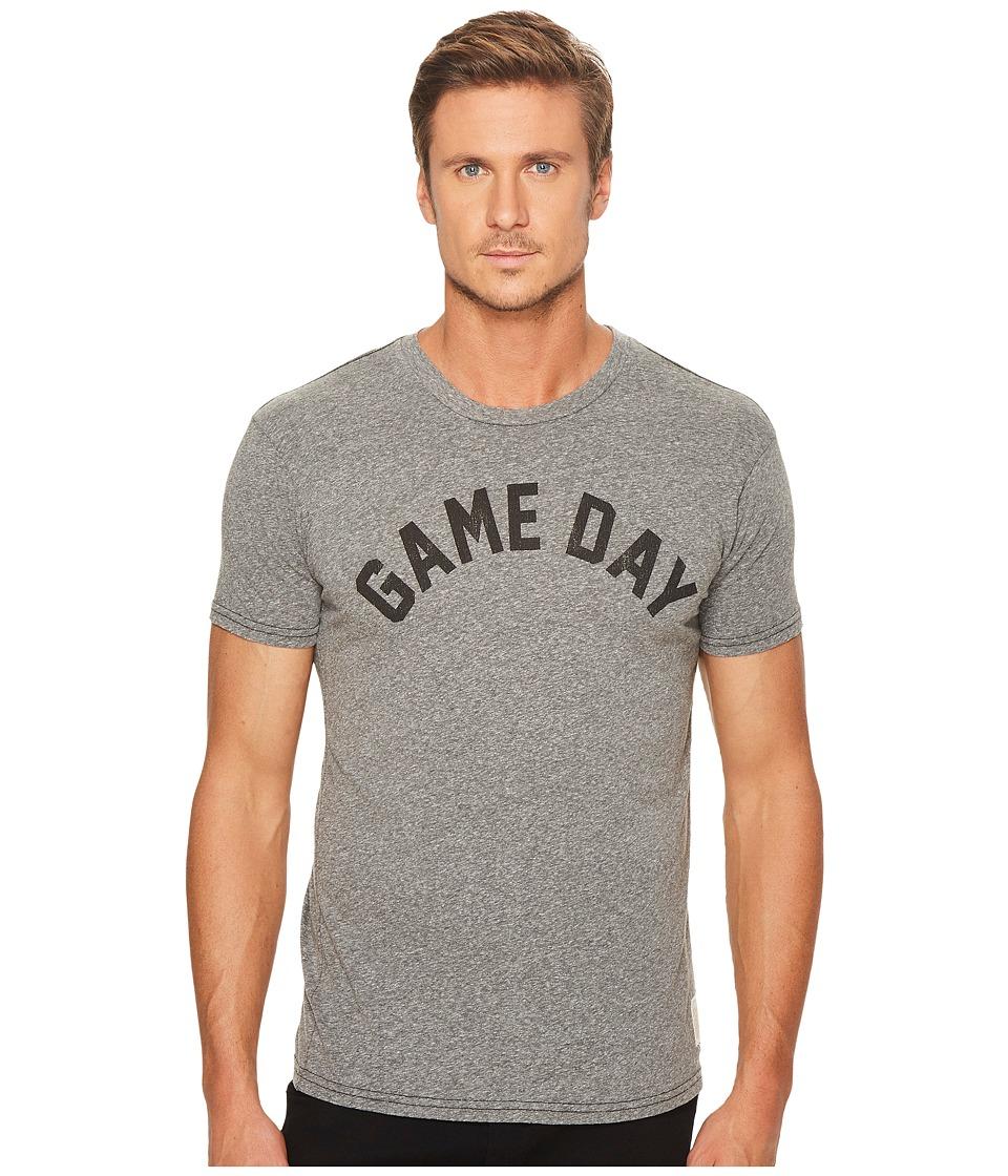 The Original Retro Brand - Game Day Short Sleeve Tri-Blend Tee (Streaky Grey) Men's T Shirt