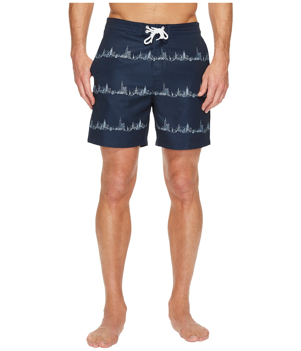 Original Penguin City Stripe Fixed Stretch Volley (Dark Sapphire) Men