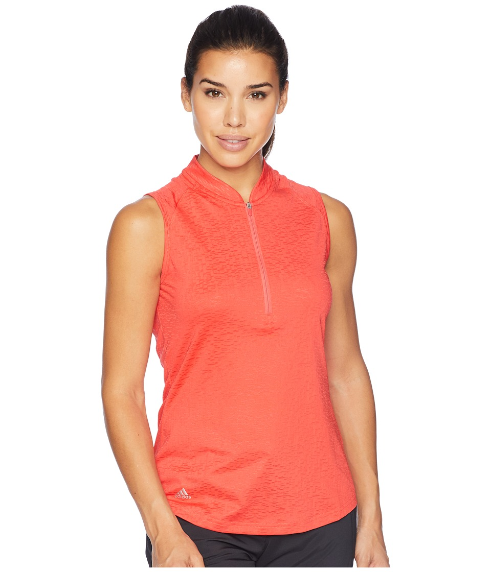 adidas Golf climacool(r) Sleeveless Polo (Real Coral) Women