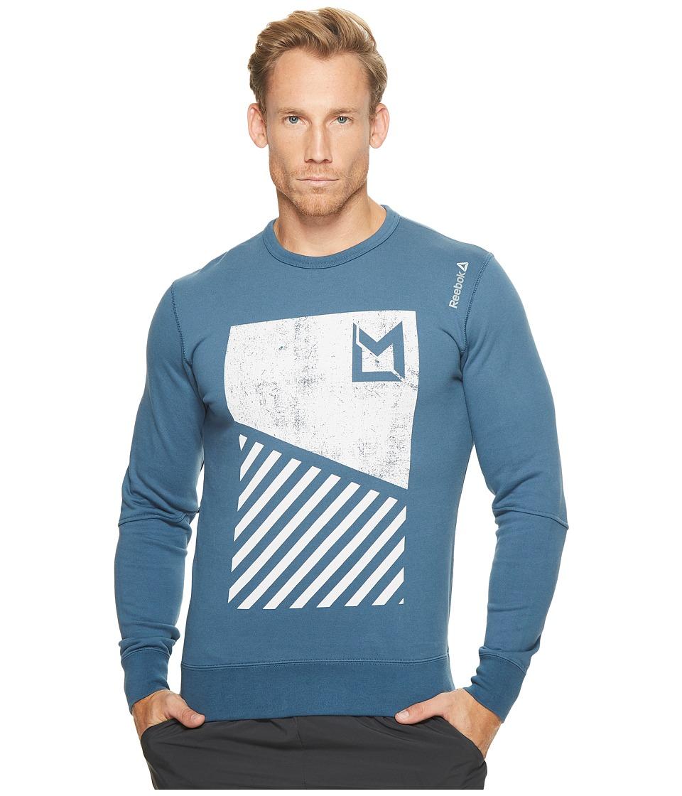 Reebok - LM Crew (Brave Blue) Men's Sweatshirt