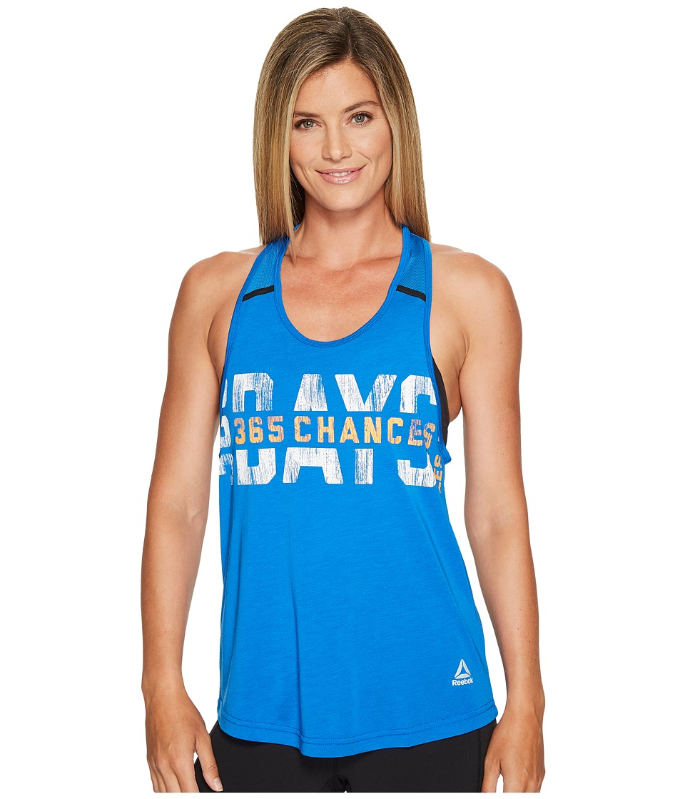 Reebok - LM Athletic Tank Top (Awesome Blue) Women's Sleeveless