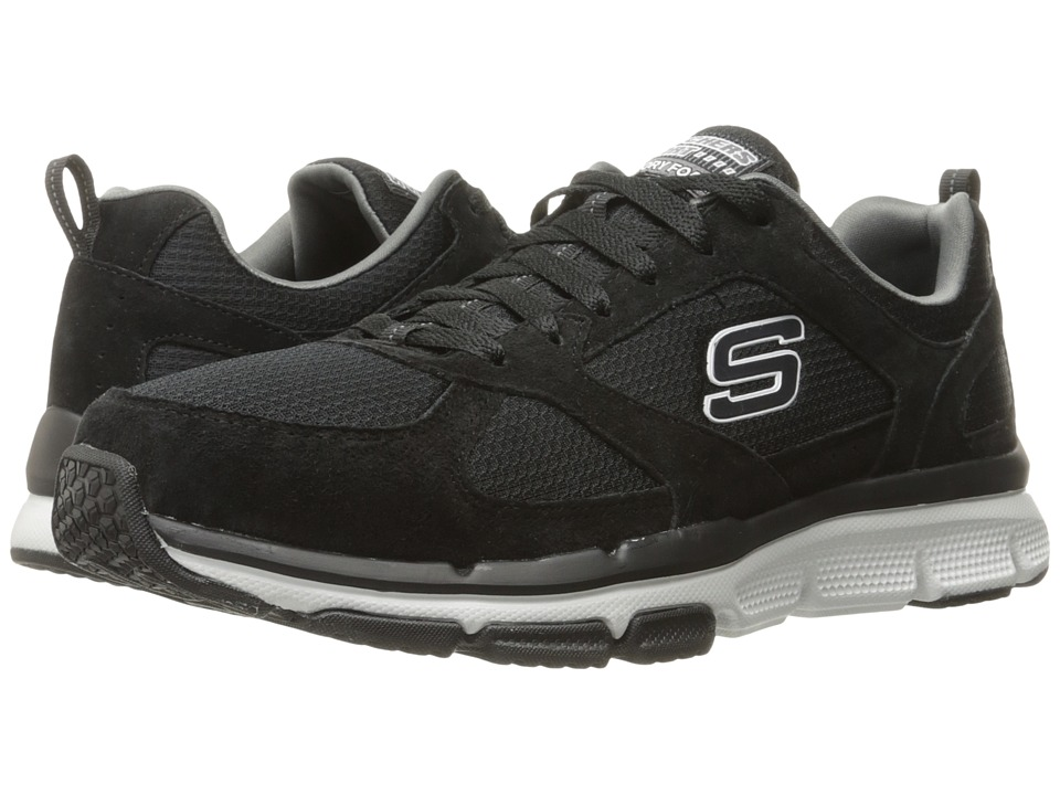 SKECHERS - Optimizer (Black/White) Men's Shoes