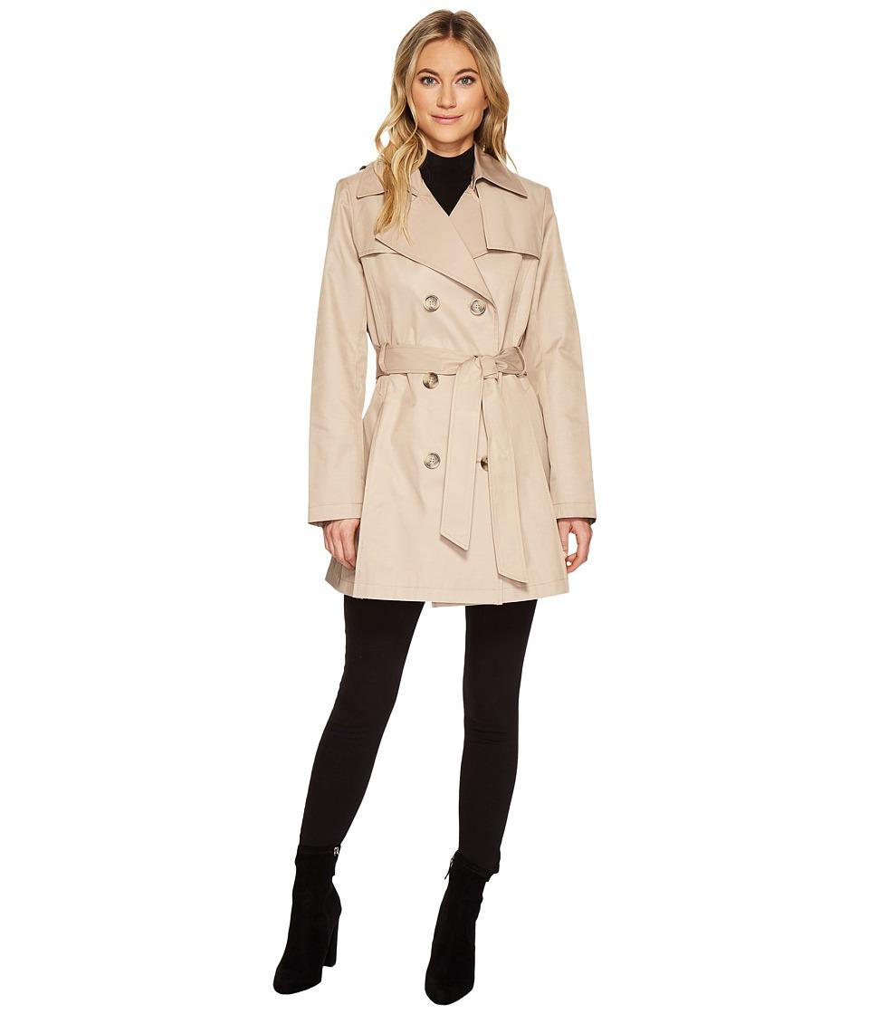 Via Spiga - Double Breasted Rain (Sand) Women's Coat