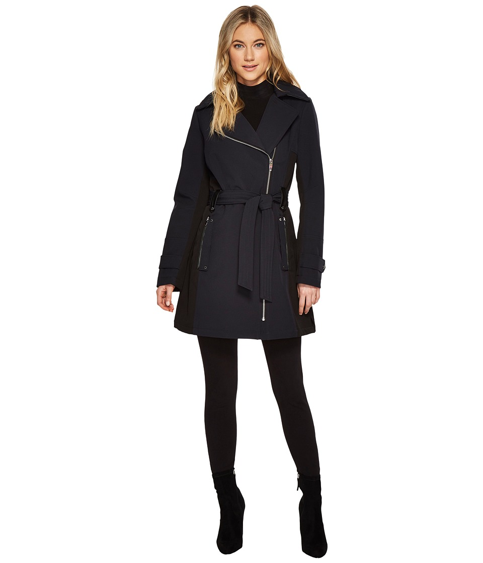 Via Spiga - Belted Coat (Navy) Women's Coat