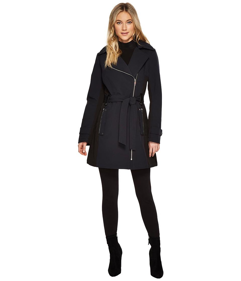 Via Spiga - Belted Coat (Navy) Women's Coat
