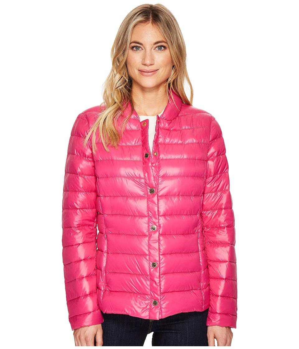 Via Spiga - Snap Front Horizontal Down (Hot Pink) Women's Coat
