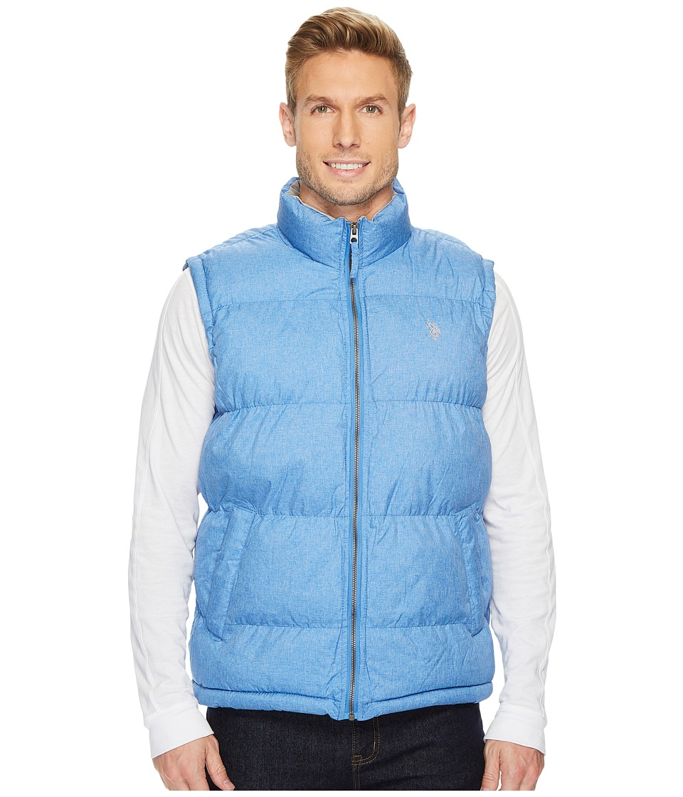 U.S. POLO ASSN. - Basic Puffer Vest with Small Pony Logo (Cobalt Heather) Men's Vest
