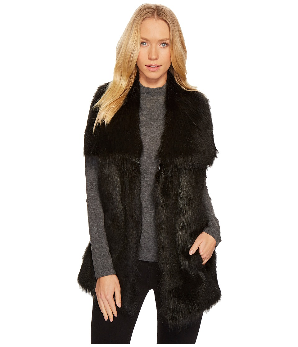 Via Spiga - Faux Fur Vest (Black) Women's Vest
