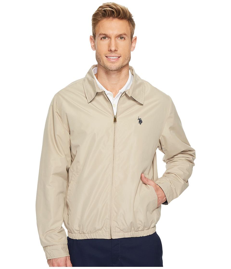 U.S. POLO ASSN. - Golf Jacket (Thompson Khaki) Men's Coat