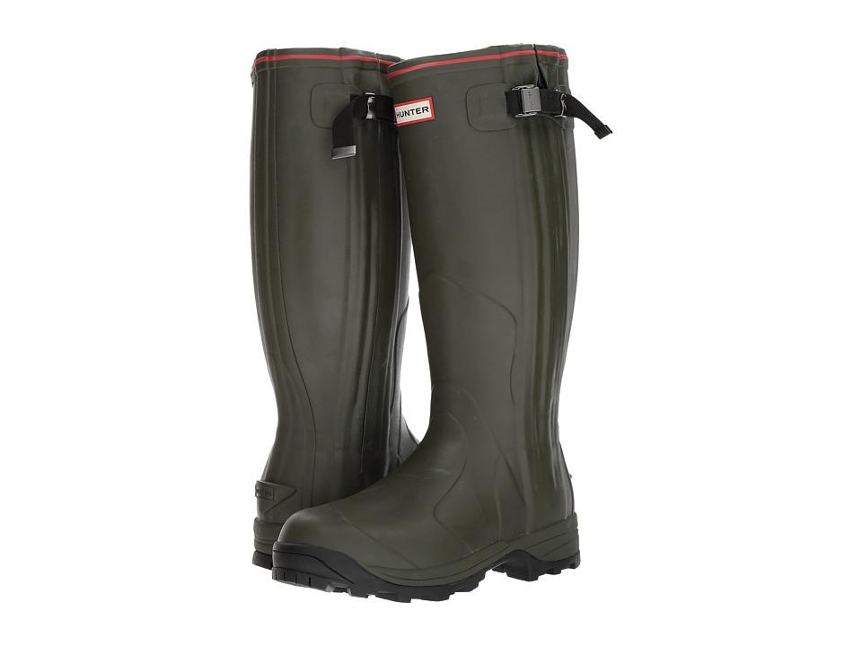Hunter - Balmoral Neo Zip (Dark Olive) Women's Shoes