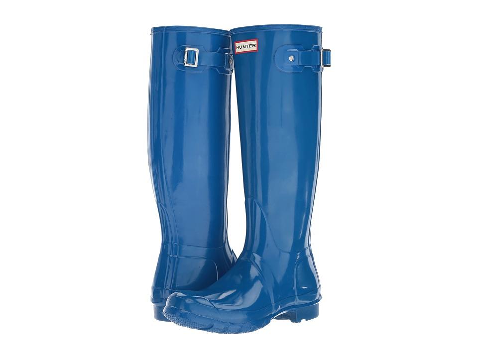 Hunter - Original Tall Gloss (Azure) Women's Shoes