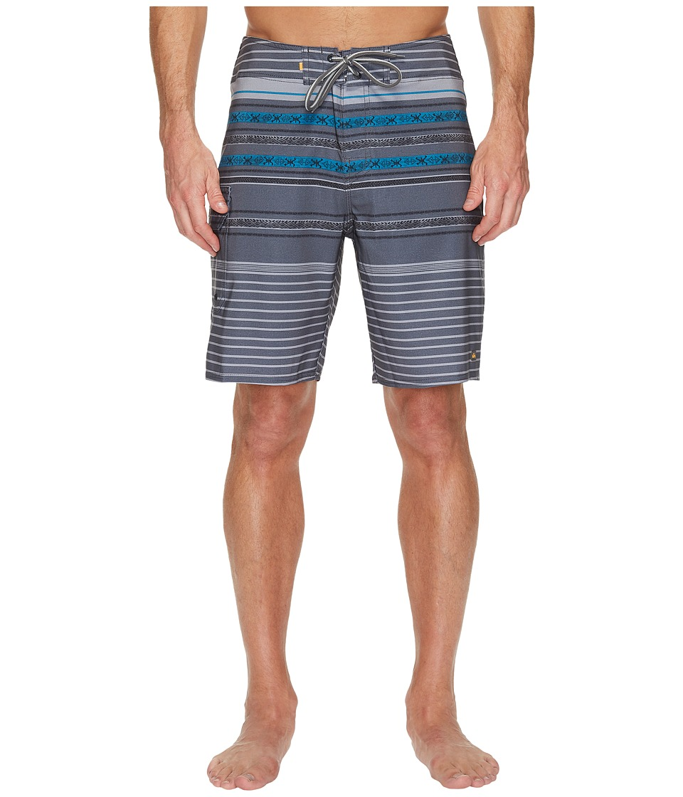Quiksilver Waterman Inca Stripe Boardshorts (Coal) Men