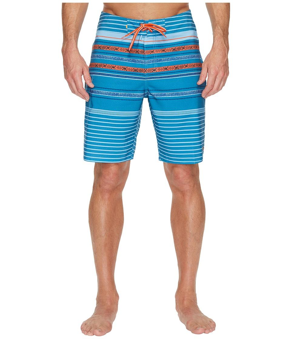 Quiksilver Waterman Inca Stripe Boardshorts (Celestial) Men