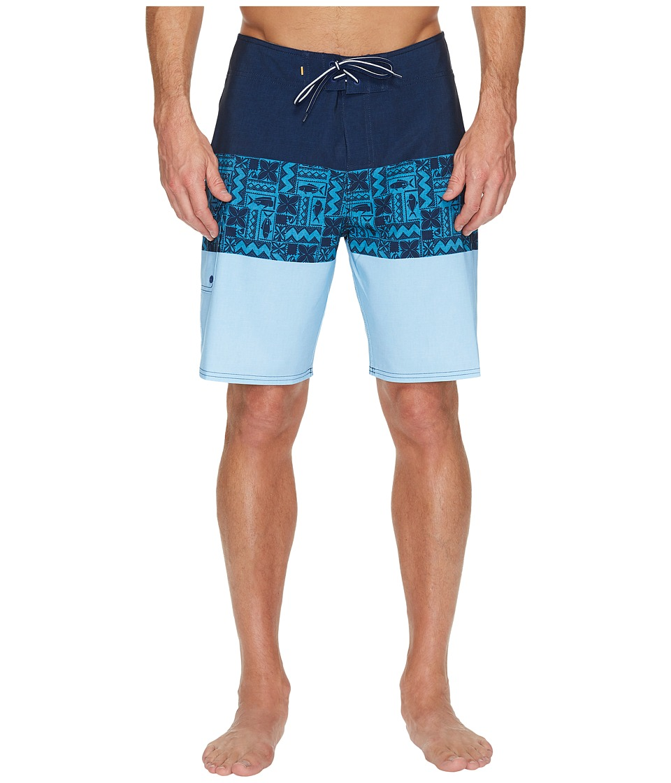 Quiksilver Waterman Fairway Tri Block Boardshorts (Estate Blue) Men