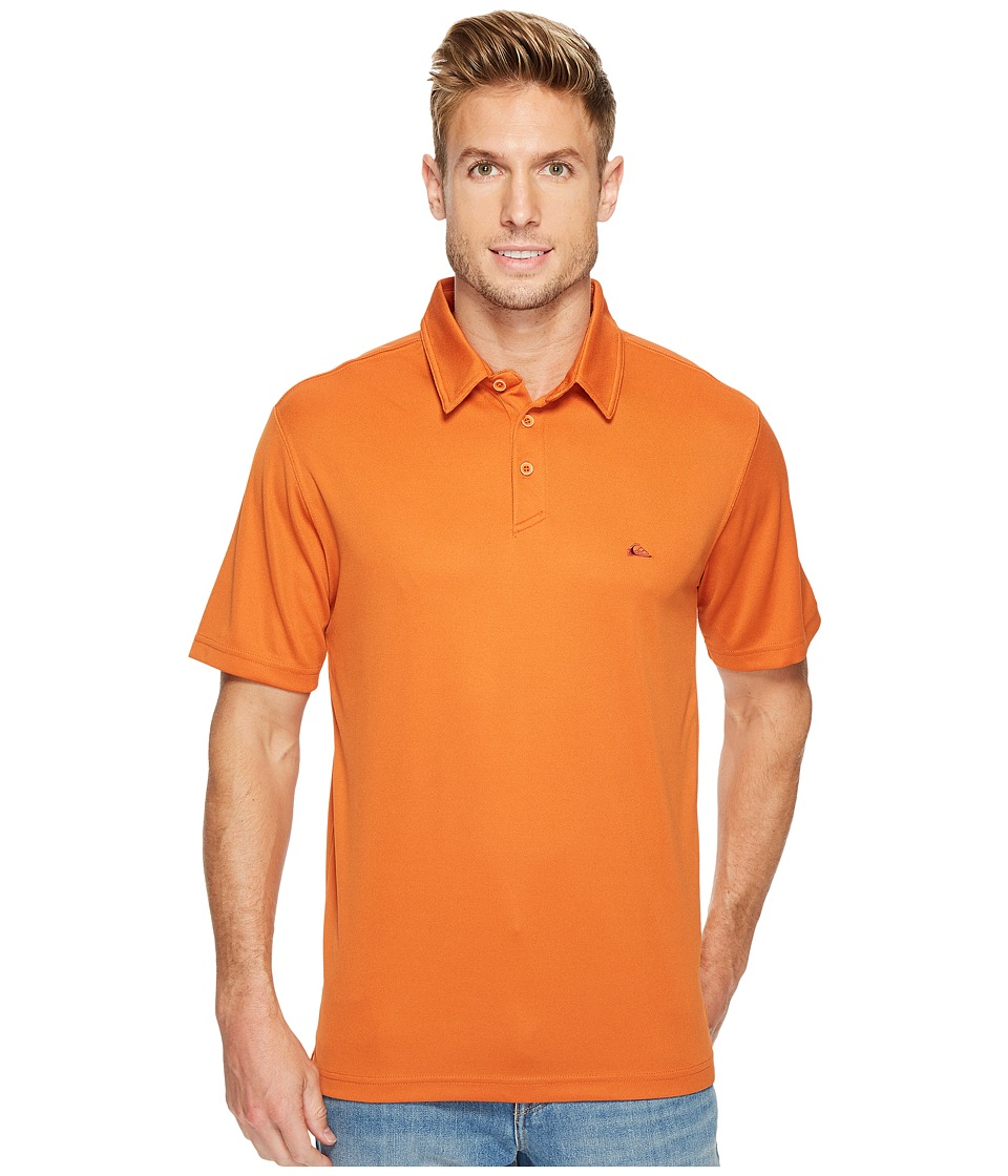 Quiksilver Waterman - Water Polo Shirt (Rust) Men's Short Sleeve Pullover
