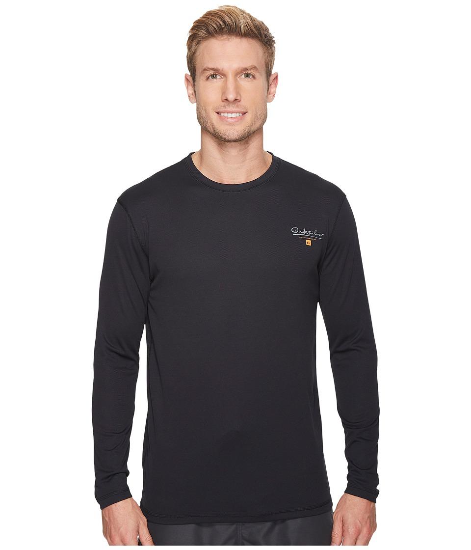 Quiksilver Waterman Gut Check Long Sleeve Rashguard (Black) Men
