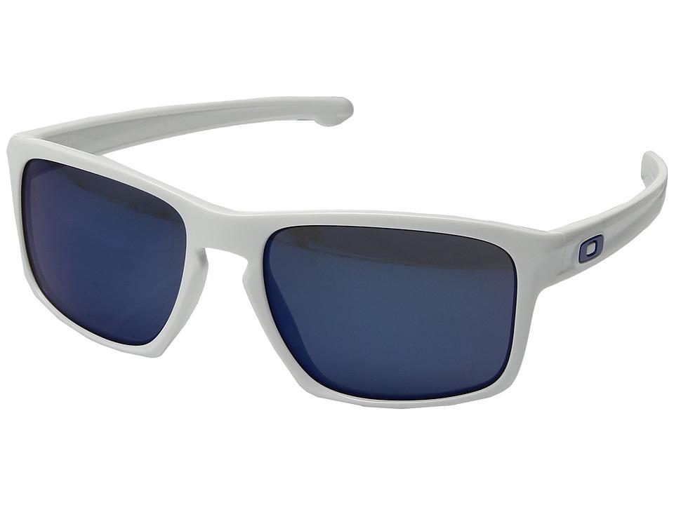 Oakley Sliver (White/Ice Iridium Polarized) Sport Sunglasses