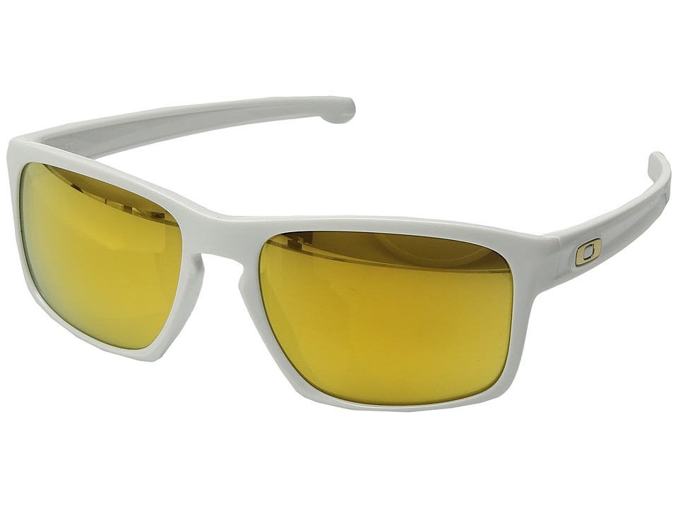 Oakley - Sliver (White/24K iridium Polarized) Sport Sunglasses