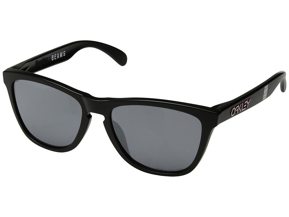 Oakley - (A) Frogskins (Matte Black/Black Iridium) Plastic Frame Fashion Sunglasses