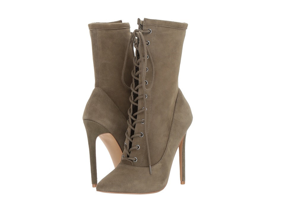Steve Madden Satisfied Dress Boot (Olive Suede) Women