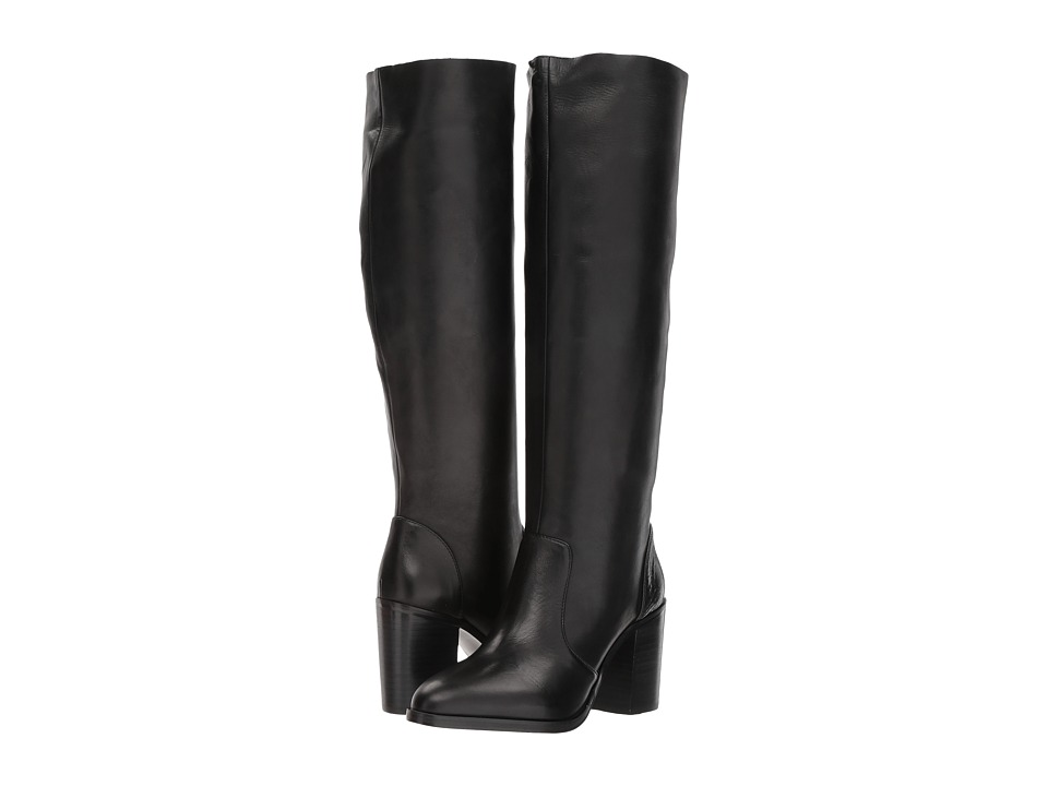 Steve Madden Remi (Black Leather) Women
