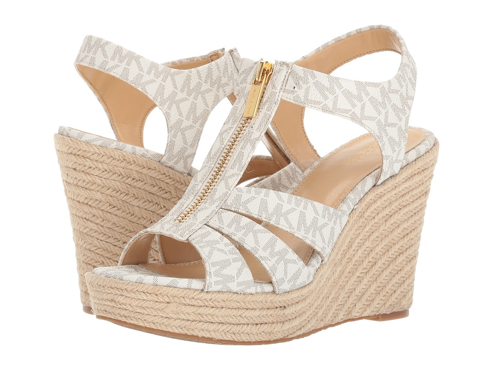 MICHAEL Michael Kors Berkley Wedge (Vanilla) Women