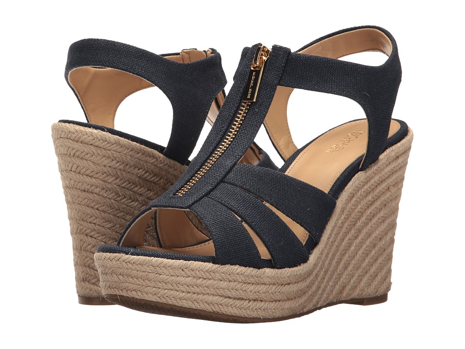 MICHAEL Michael Kors - Berkley Wedge (Navy) Women's Wedge Shoes