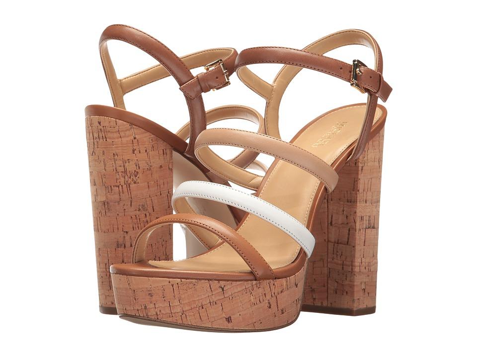 MICHAEL Michael Kors - Nantucket Platform (Luggage/Toffee) Women's Shoes