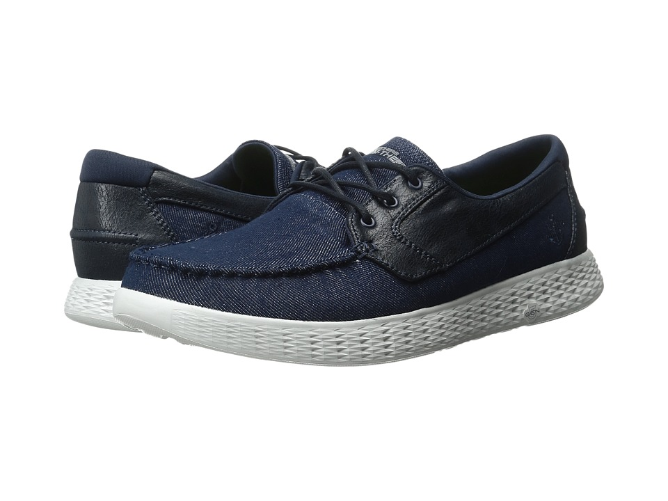 SKECHERS Performance - On The GO Glide - 53770 (Navy/Gray) Men's Shoes