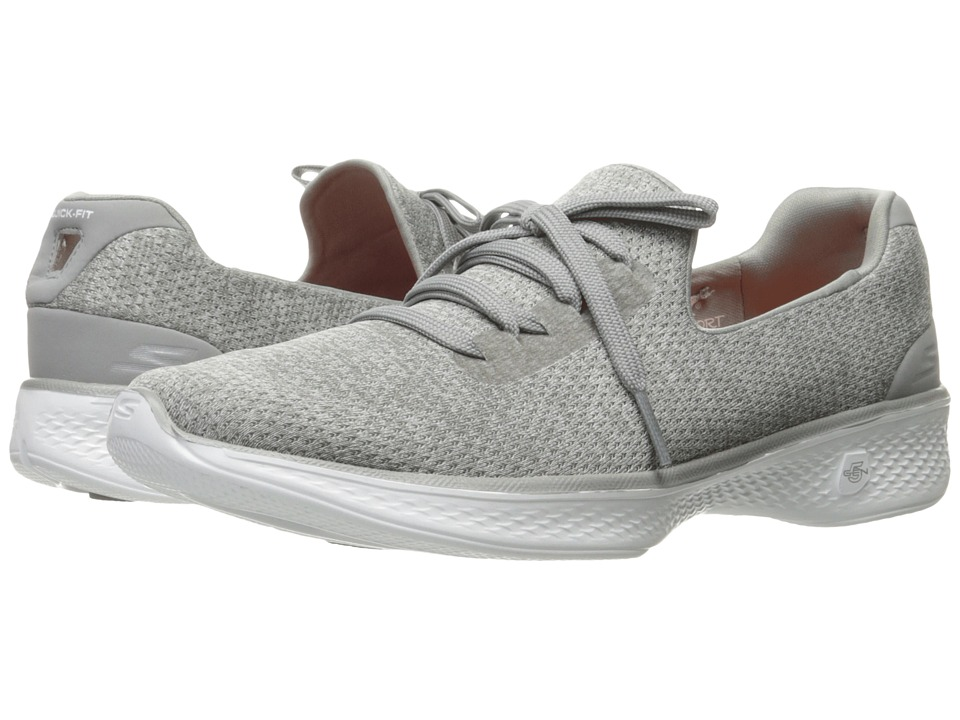 SKECHERS Performance Go Walk 4 All Day Comfort (Gray) Women