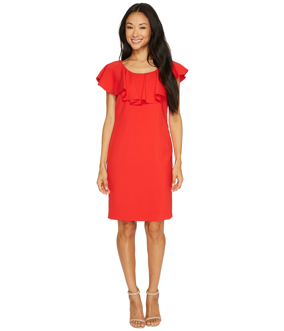 Tahari by ASL - Ruffle Sheath Dress (Scarlet) Women's Dress