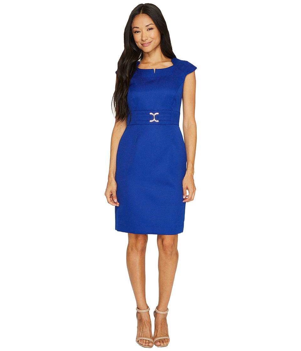 Tahari by ASL - Jacquard Sheath Dress (Cobalt) Women's Dress