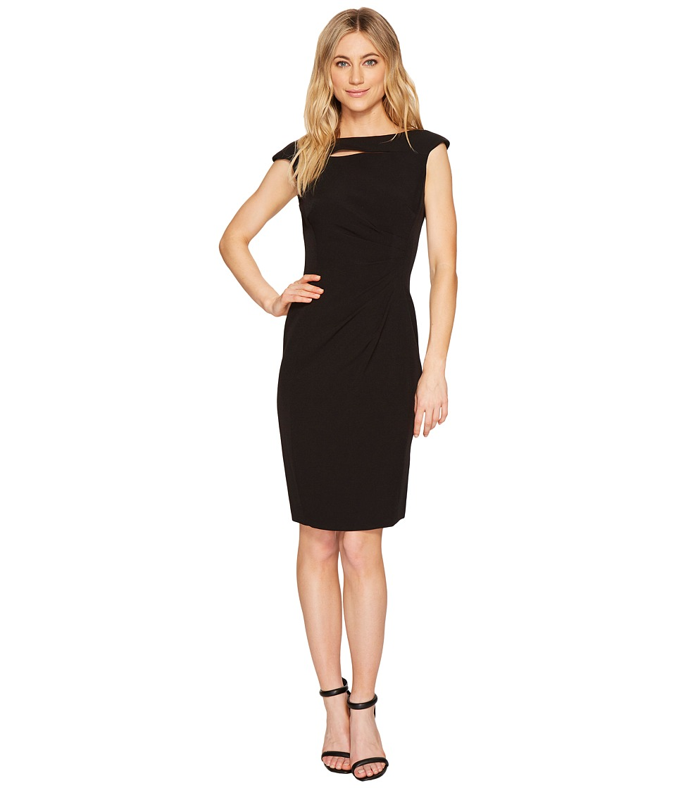 Tahari by ASL - Neck Slash Sheath Dress (Black) Women's Dress