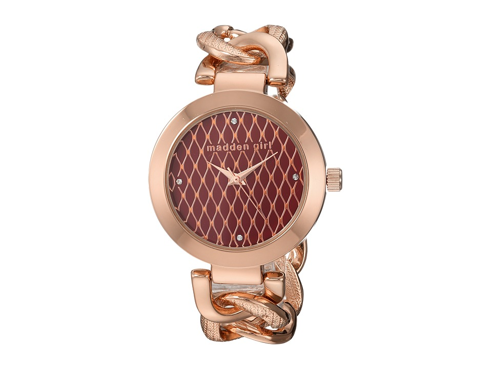 Steve Madden - Madden Girl SMGW013Q-BU (Rose Gold) Watches