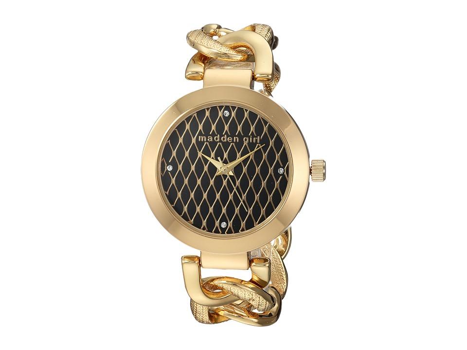 Steve Madden - Madden Girl SMGW013G-BK (Black/Gold) Watches