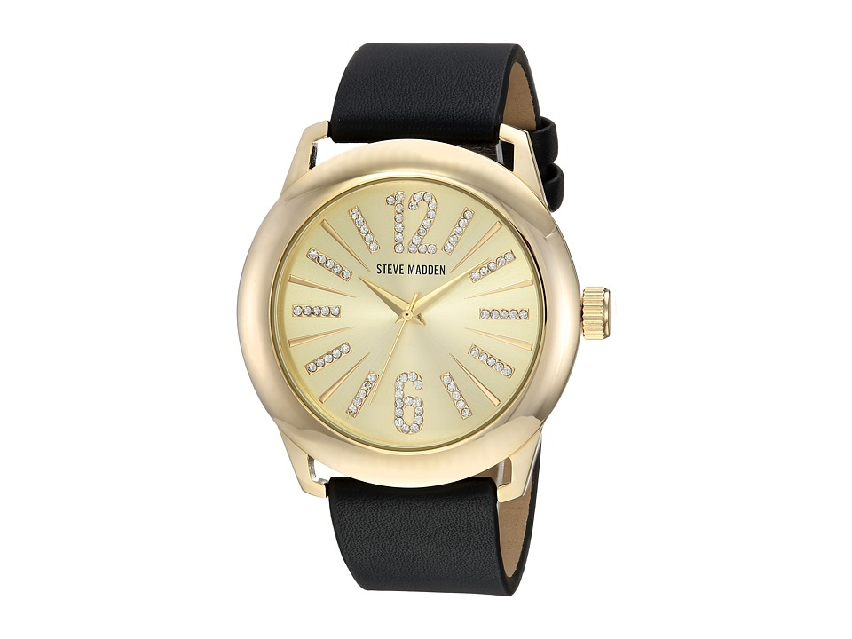 Steve Madden - SMW090G-BK (Gold/Black) Watches