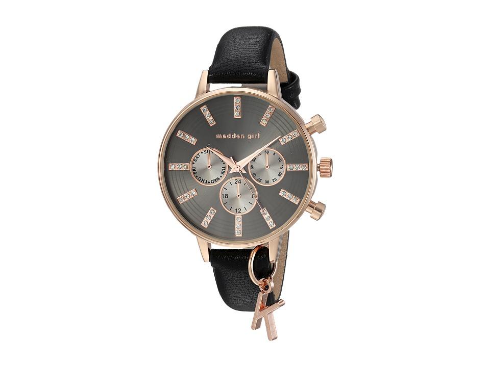 Steve Madden - Madden Girl SMGW021Q-BK (Gold/Black) Watches