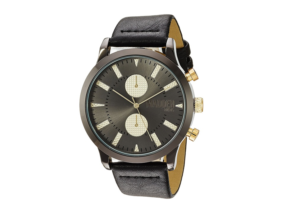 Steve Madden - Madden Mens SMMW009BK (Black/Gold) Watches