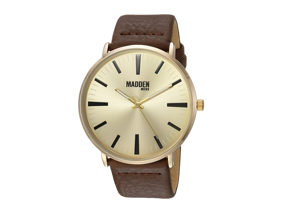 Steve Madden - Madden Mens SMMW006G-BR (Gold/Brown) Watches