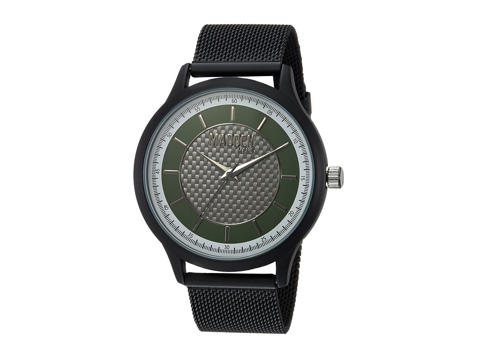 Steve Madden - Madden Mens SMMW011BK-OL (Black/Steel) Watches